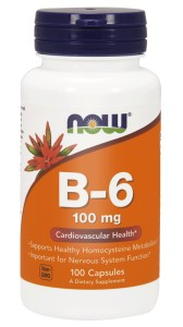 NOW Foods witamina B6 100mg – 100 kapsułek