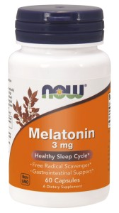 NOW Foods Melatonina 3 mg – 60 kaps