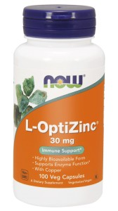 NOW Foods L- OptiZinc® 30 mg – chelat cynku i miedzi – 100 kaps