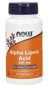 NOW Foods Alpha Lipoic Acid 250 mg Alfa Kwas ALA 60 kaps