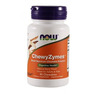 NOW Foods ChewyZymes™ 90 tab Enzymy Amylaza