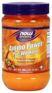 NOW Foods Amino Power Pre-Workout – proszek 600 g