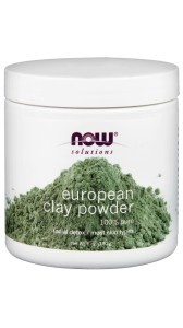 NOW Foods European Clay Powder Maska Detox do twarzy