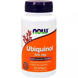 NOW Foods Ubiquinol - ubichinol - 100mg 60 kapsułek