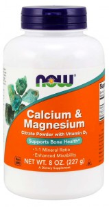 NOW Foods CAL-MAG CITRATE Calcium & Magnesium POWDER 227g