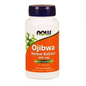 NOW Ojibwa Herbal Extract (Esiak) 450 mg - 90 kap ułatwia trawienie